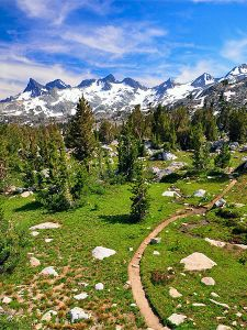 Pacific Crest Trail, Ritter Range, California. Photo courtesy of Steve Dunleavy